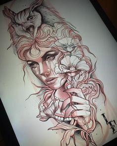 👰🏼🦉🌸 Taking bookings till december lucasferreiratatt. tattoo designs ideas männer männer ideen old school quotes sketches Aphrodite Tattoo, Athena Tattoo, Greek Goddess Tattoo, Greek Mythology Tattoos, Tattoo Design Drawings, Tattoo Sketches, Tattoo Designs, Gypsy Tattoo Design, Leg Tattoos