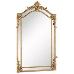 Previous powder room in gold - - - - - Somette Antique Goldtone Framed Mirror