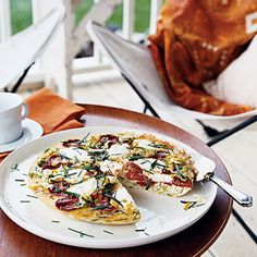 frittata with tomatoes and leeks