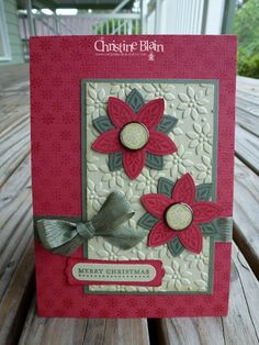 Christmas #triple Treat Flower Stampin Up
