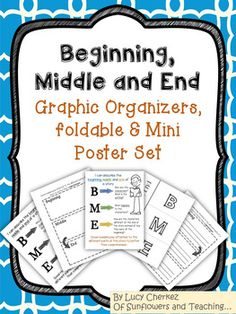 sequencing and summarizing is a hard skill to master.  That's why it's always easier to break down thoughts and learning using a graphic organizer.  This set of mini posters, graphic organizers and foldable are just what you need to teach this skill to your class.