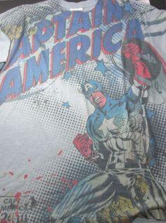 Captain America Marvel Comics T-Shirt TShirt Size L Large Rare #MarvelComics #GraphicTee