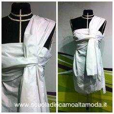 EASY TO WEAR DRESS realizzato da Federica, alunna corso #moulage settembre 2013