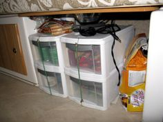 food storage in our small Casita travel trailer