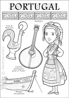 "iColor ""Little Kids Around The World""~ Portugal Colouring Pages, Coloring Sheets, Adult Coloring, Coloring Books, Kids Around The World, People Of The World, Around The Worlds, Geography For Kids, World Thinking Day"