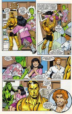 From The Titans Secret Files and Origins #1 (March 1999) I think the awesome-ness of this panel is self explanatory.
