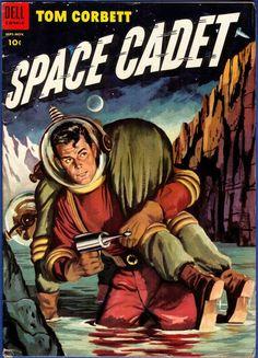 Tom Corbett Space Cadet Dell No 11 1954 GA Comic based on TV, Robert A. Heinlein http://spain-travel-now.info/sn/re/?query=351560028869…