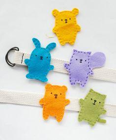 Easy-Sew Animal Belt Buddies