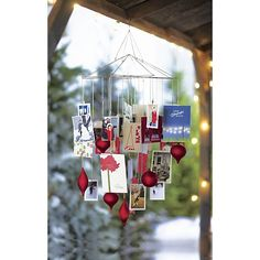 Ornament-Photo Chandelier | Crate and Barrel #setthetable