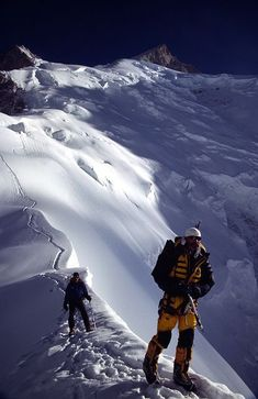 Gasherbrum III and right Gasherbrum II Nepal Ice Climbing, Mountain Climbing, Gasherbrum Ii, Trekking, Kayak, Fauna, Extreme Sports, Mountaineering, Adventure Is Out There
