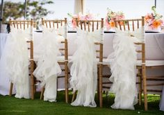 7 Stylish Wedding Chair Covers - ruffles (photo: mike sidney)