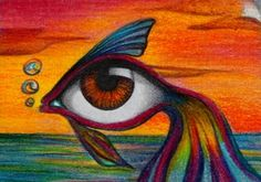 1000 images about surreal eyes on pinterest surrealism for Fish eyes in paint