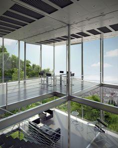 Cliff View Modern Mansion-R128 in Stuttgart by Werner Sobek