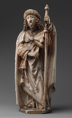 Saint James the Greater Gil de Siloe (Spanish, active 1475–1505) Date: ca. 1489–93 Geography: Made in, Burgos, Castile-León, Spain Culture: Spanish Medium: Alabaster, gold, and paint