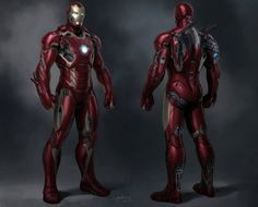 Avengers Concept Art | IRON MAN Mark XLV by Phil Saunders