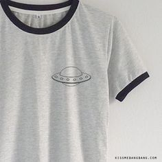 UFO Ringer Tee T-shirt | Tumblr | Graphic | Kiss Me Bang Bang