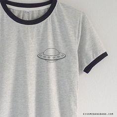 UFO Ringer Tee T-shirt   Tumblr   Graphic   Kiss Me Bang Bang