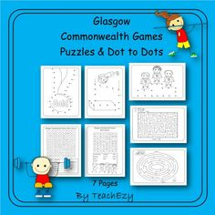 Commonwealth Games Puzzles and Dot to Dot Commonwealth Games, Australian Curriculum, School Games, Home Schooling, Glasgow, Teaching Resources, Puzzles, Dots, Education