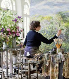 Claire Basler, Französische Kübstlerin Blumenmalerinnen_Callwey_80-737×492