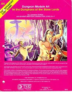 Advanced Dungeons and Dragons: Dungeon Module A4, In the Dungeons of the Slave Lords by Lawrence Schick. Available From West Point Toy & Hobby on Amazon #Dungeons