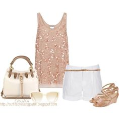 I love sparkly tops:)