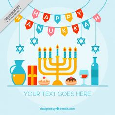 Colorful hanukkah background with candelabra and other items Free Vector Gay Christmas, Candelabra, Vector Free, Kids Rugs, Colorful, Iphone, Vector Background, Design, Hanukkah Decorations