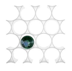 Casier à bouteilles Infinity Blanc - Kartell - Décoration et mobilier design avec Made in Design