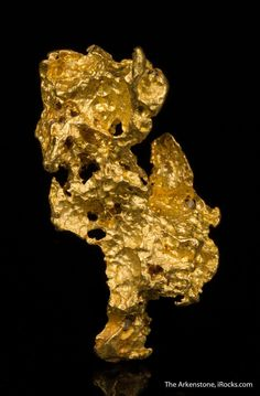 Native Gold Nugget, Ballarat area, Victoria, Australia, Miniature, 3.9 x 1.8 x 1.1 cm, This intricately formed nugget is not crystallized, but also not