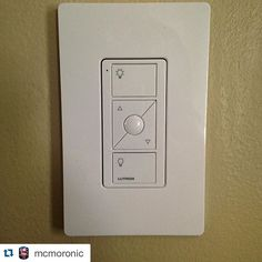 #Repost @mcmoronic ・・・ #lutron #wireless #switching #nomorepullchains #radio #thankyoutesla #noneedtocutholes