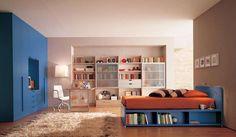 Camera ragazzo - Complementi azzurri e bianchi
