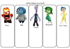 Students' trigger for emotions using Disney's Inside Out movie Feelings Activities, Counseling Activities, Work Activities, Therapy Activities, Emotions Preschool, Elementary School Counseling, School Social Work, School Counselor, Inside Out Emotions