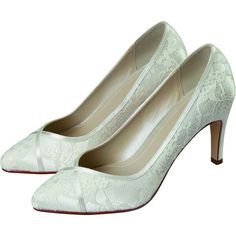 e4f62dd6f89 Melanie by Rainbow Club Ivory Classic Lace Dyeable Wedding or Occasion Shoes  - SALE