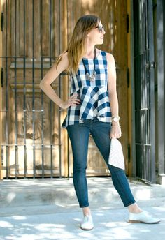 How to Wear a Peplum Top on Art in the Find, anthropologie, gingham-top, peplum-top,