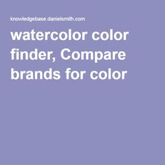 watercolor color finder, Compare brands for color