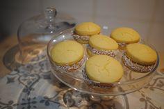 Alfajores de Maizena Muffin, Eggs, Breakfast, Food, Morning Coffee, Muffins, Meal, Egg, Essen