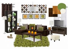 Find This Pin And More On Living Room By Diptisuthar. Green And Brown  Inspiration