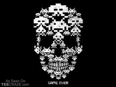 Game Over T-Shirt Designed by Droidloot  Source: http://teecraze.com/game-over-t-shirt-7/