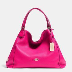 Edie Shoulder Bag in Pebble Leather