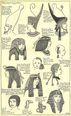 Ancient Egyptian Hat Styles