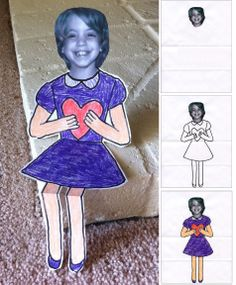 Art Projects for Kids: Sitting Valentine Kids