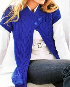 Hand Knit Cardigan Jacket    made from merino wool or from organic cotton  Available in other color