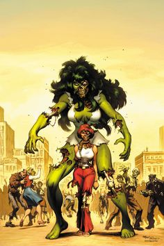 She Hulk Zombie cover by EdMcGuinness.deviantart.com on @DeviantArt