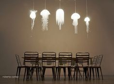 Awesome light fixtures idea! Jelly fish!