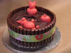 Pigs in the Mud Cake @ FriendsFoodFamily.com
