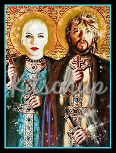 The Eurythmics Prayer candle from Kitschup Creations