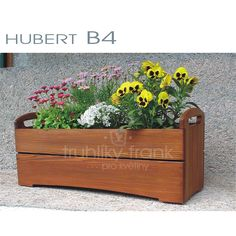 "Dřevěný truhlík B4""50, 60 cm"" na okno - přenosný + nastavitelné nožky Flower Boxes, Flowers, Garden Ideas, Plants, Diy, Inspiration, Design, Do It Yourself, Biblical Inspiration"