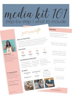 Blogger Media Kit Example | Just Peachy Blog