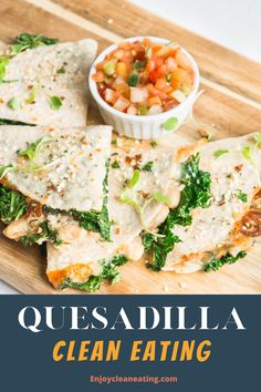 Quesadilla Clean Eating. The combination of the white beans, parsley, onion, garlic, and cheese makes the filling for this amazing kale and white bean quesadilla very tasty. The kale and White bean quesadilla will keep you full and satisfy after lunch for hours. best of clean eating Healthy Quesadilla, Quesadilla Recipes, Easy Clean Eating Recipes, Easy Meals, Healthy Recipes, Shredded Brussel Sprouts, Air Fryer Healthy, White Beans, Parsley