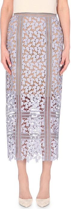 Pin for Later: The Label That's Making the Naked Dress Wearable IRL  Self-Portrait Arabella Lace Midi Skirt (£200)