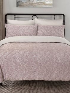 M&Co - Shop online and get the latest looks for women, men, kids and the home plus free delivery when you spend or more M&CO Lavender Bedding, Back To University, Paisley Bedding, Duvet Sets, Paisley Pattern, Bed & Bath, Looking For Women, Comforters, Blanket
